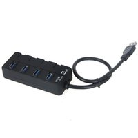 USB 3.0 usb 3.0 hub - 4 Ports USB HUB Gbps Super Speed with On Off Switch For Laptop Desktop PC Black Color C1730B