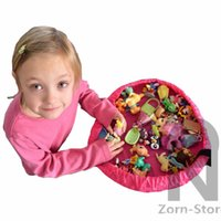 Wholesale Zorn store Toy Storage Bag Inch diameter play mat Portable Kids Children Infant Baby Play Mat Toys Storage Bags Organizer Quick Pouch