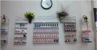 Nail Polish Perfume Shop - Five piece Iron continental shelf wall nail polish nail shop display perfume holder cosmetic display cabinets