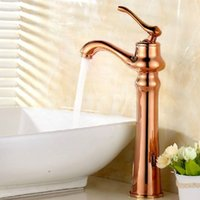 Wholesale Luxury New Style Rose gold bathroom basin faucet kitchen faucet single handle mixer tap toilet brass banheiro M37E
