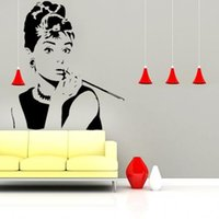 beauty wall decal - Beauty Audrey hepburn Vinyl Mural sticker wall decal quote art Decor Removable pieces