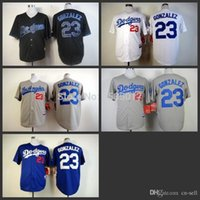 Wholesale 2015 New Los Angeles Dodgers Adrian Gonzalez Cool Base Blue Grey and White Baseball Jersey