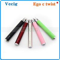 Cheap ego c twist Battery ego Battery ego twist 650mah 900mah 1100mah for E Cigarette Electronic cig Various colors for ce4 ce5 ce6 atomizer