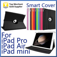 Wholesale For Apple iPad Pro Cover Case Rotating Smart Cover for iPad Air Mini PU Leather Protector