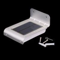 Cheap 16 LED Solar Power Light Sound Motion Sensor Powered Lamp Energy Saving Wall Garden Yard Street Outdoor Lighting Solar Lamps H12865