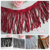 Wholesale 3 Yard Color Flannelette lace fabrics tassel fringe lace trim skirt clothing accessories DIY side black white width cm