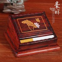 antique mahogany box - Antique mahogany humanities collections smoke jump Rosewood inlaid boxwood lotus flowers storage box cigarette packets