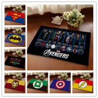 Wholesale 12 Styles The Avengers Bedroom Carpets Doormat cm Iron Man Hulk Hero Logo Animation Super Soft Mats Cartoon Floor Door Rugs