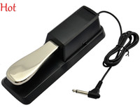 Wholesale Useable Electric Portable Damper Sustain Metal Pedal For HMY Piano For Yamaha Casio Keyboard Sustain Ped Black Damper Sustain Pedal TK0576