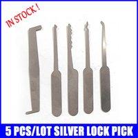auto easy - 5PCS Silver Credit card lock civil open lock set easy use locksmith tools lock picks