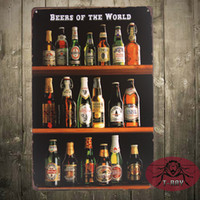beer world - quot Beers Of The World quot Vintage Tin Sign Retro Home Pub Cafe Wall Decoration