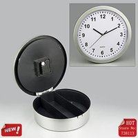 Wholesale Plastic Wall Clock w Hidden Shelves Valuables Secret Stash Jewelry Money Safe With Hidden Compartments Insurance Cabinet Storage Box Clocks