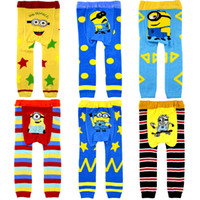 designer tights - Baby Despicable Me Leggings Cartoon pantyhose Busha Crochet PP pants Children xmas leggings Tights pants baby clothes designer colors