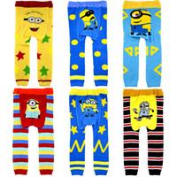 Wholesale Baby Despicable Me Leggings Cartoon pantyhose Busha Crochet PP pants Children xmas leggings Tights pants baby clothes designer colors