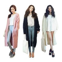 Wholesale Women Long Sweater Winter Autumn Full Sleeve Loose Casual Cardigan Coat Outwear A307