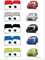 Wholesale Hot Sale New Big Eyes Pixar Cars Lightning Front Car Windshield Sun Shade Colors