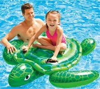 Wholesale 2016 factory high quality INTEX large inflatable swimming toys turtle mount amphibious with two adults also apply to animal toys
