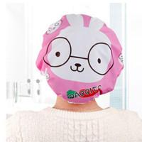 Wholesale New Arrivals Bathing Shower Cap Waterproof Hats Cute Cartoon PVC Durable Diameter CM JB19