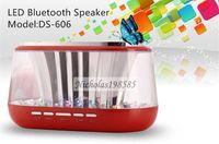 Wholesale Mini DS Bluetooth Speakers LED Light Wireless Music Sound Box Loudspeaker Voicespeaker Hi Fi Music Player For Smart Phone