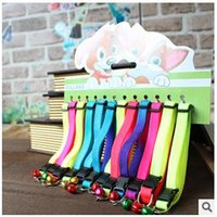 Wholesale 2015 New Style Adjustable Pet Dog Cat Common Collar Breakaway Safety Buckle Cat Nylon Solid Candy Color Collar Puppy Collar CCA1776