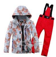 best snowboarding jacket - men ski suit snowboarding jacket pants best quality skiwear winter warm ski clothes