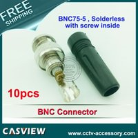 Wholesale 10pcs per CCTV BNC75 Connector with Zinc Alloy Plastic body solderless with screw inside