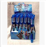 Wholesale 36pcs new Children colors ball point pen Grils Study Accessories pen Child Frozen Snow Queen Stationery Pencil frozenC1565