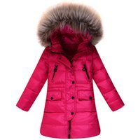 Wholesale new winter children s down jacket big virgin girls Korean fashion casual hooded down jacket coat