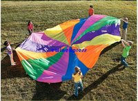 big outdoor umbrellas - NEW Foot Kid Play Sturdy Parachute Canopy Tent Outdoor jump sack Rainbow umbrella Exercise Sport Game