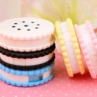 Wholesale 1pc New Sweet Cookies Series Contact Lenses Box Case Contact lens Case Promotional Gift EC003