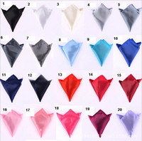 Wholesale Pocket square ties accessories colors per solid square kerchief