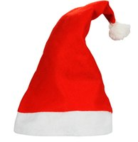 Wholesale Cute Christmas Hats - 2014 New Christmas Decoration hats High-grade Christmas hat Santa Claus hat Cute adults Christmas Cosplay Hats