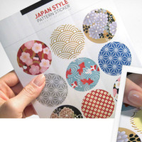 art diary - Cute Elegant BBIDDAK Japanese Traditional Printing Universal Stickers Sealing Stickers Photo Sticker Decorative Stickers Diary Cup Sticker
