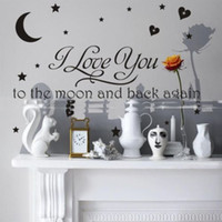 baby love quote - Baby I Love You Moon Bedroom Wall Sticker Quote Decal Home Decor Black Removable