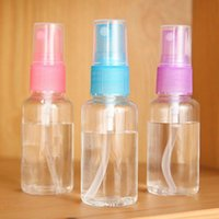 Cheap 2Pcs Clear 50ml Empty Spray Bottle Travel Transparent Plastic Perfume Atomizer MD498