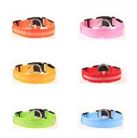 Wholesale New arrived CM wideth Size LED dog collars LED pet Flashing safety collars Nylon Leashes