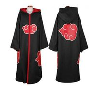 Wholesale two kinds Anime Costumes Naruto Akatsuki Uchiha Itachi Cosplay Cloak cosplay costumes cosplay naruto akatsuki cloak