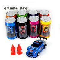 Wholesale Mini Racer Remote Control Car Coke Can Mini RC cars Radio Remote Control Micro Racing Car children toy Gift