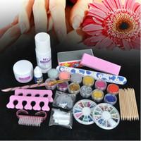 basic acrylic nails - Basic Acrylic Powder Liquid KITS NAIL ART TIP KIT Glitter Tool Acrylic UV Polish Set Decorate Manicure Powder