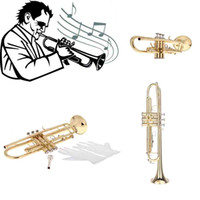 Wholesale Trumpet Bb B Flat Brass Exquisite Durable and Exquisite Design with Mouthpiece Gloves Musical Instrument