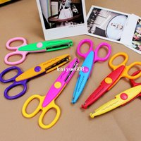 photo albums - Hot Sell Kids Scissors for DIY Photo Album Handmade Patterns Laciness Scissors for Photo Album Card Decorative DIY Scissors