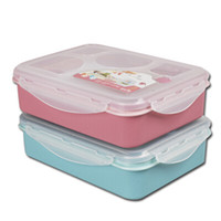 bento box design - New Design Cute Microwave Oven Bento Box Student Lunch Box with Soup Bowl Spoon Food Container Dinnerware JH0010 salebags