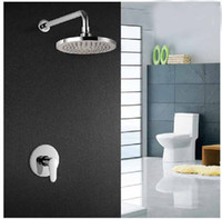 shower mixer - Wall Mounted quot ABS Round Shape Shower Faucet Rainfall Shower Mixer Single Handle
