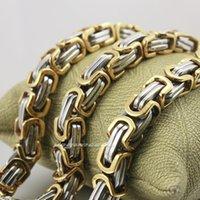 animal rocker - Golden Silver L Stainless Steel Mens Biker Rocker Punk Necklace F008N
