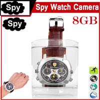 achat en gros de mode hide-La mode la plus récente montre imperméable à l'eau cachée caméra caché 720 * 480 8GB montre-bracelet DVR Sport Watch Camera