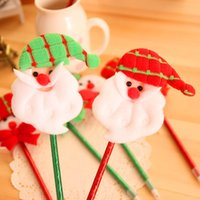 Wholesale 24Pcs Pack Christmas wedding dress up Santa Claus ball point pen Pen Christmas gifts caneta kawaii Pen Al Por Mayor