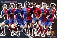 barcelona packaging - Barcelona Players Classical Custom Fashion Movie Comic Poster Printed Size x75 cm Wall Sticker