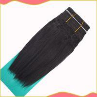 30% human hair yaki weave hair - hair extensions Premium Too YAKI Straiht Blended Hair Extension Hair Weaving quot quot Color B