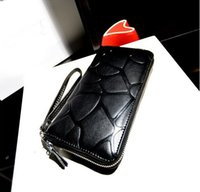 Wholesale 2014 new fashion black stone pattern wallet long section zipper women wallet