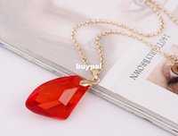 Wholesale Top quality Harry Potter And The Sorcerer Red Crystal Magic Philosophers Stone Necklace Pendant Chain Popular Jewelry pcsx1x